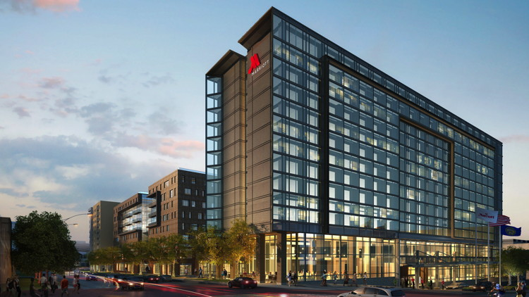 Rendering of the Omaha Marriott Downtown at the Capitol District Hotel