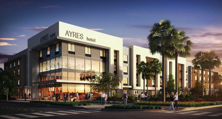 Rendering of the Ayres Hotel in South San Diego County
