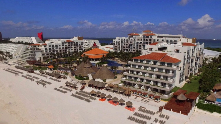 Fiesta Americana Condesa Cancun All-inclusive Resort Hotel - Aerial View