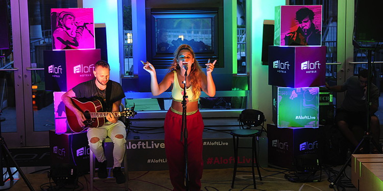 Artists performing at the Live at Aloft Hotels Tour