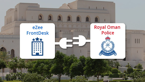 eZee FrontDesk and Royal Oman Police logos
