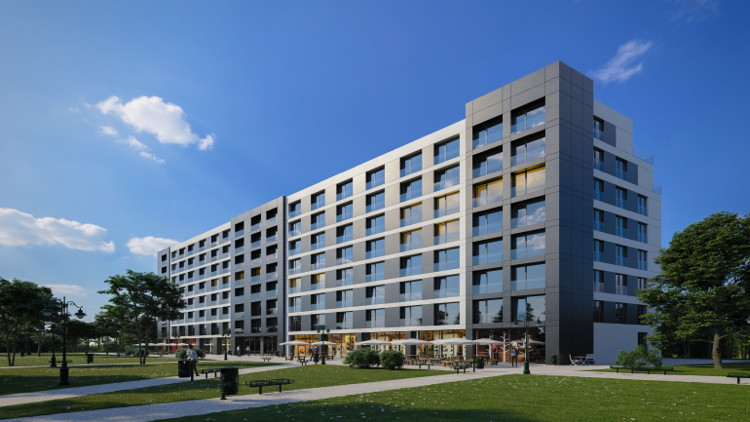 Rendering of the Staybridge Suites Warsaw Ursynów