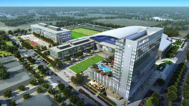 Rendering of the Omni Frisco Hotel