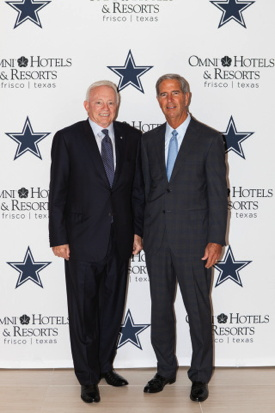 Mr Jerry Jones Owner-President and General Manager of Dallas Cowboys and Mr Robert Rowling Owner and Chairman TRT Holdings Inc.