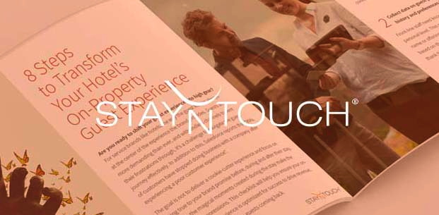 8 Steps to Transform the On-Property Guest Experience - Cover with StayNTouch logo