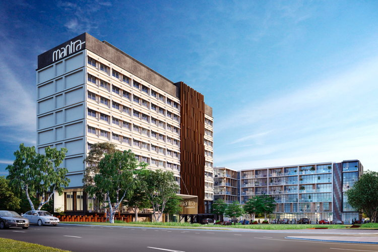 Rendering of the the Mantra MacArthur Hotel
