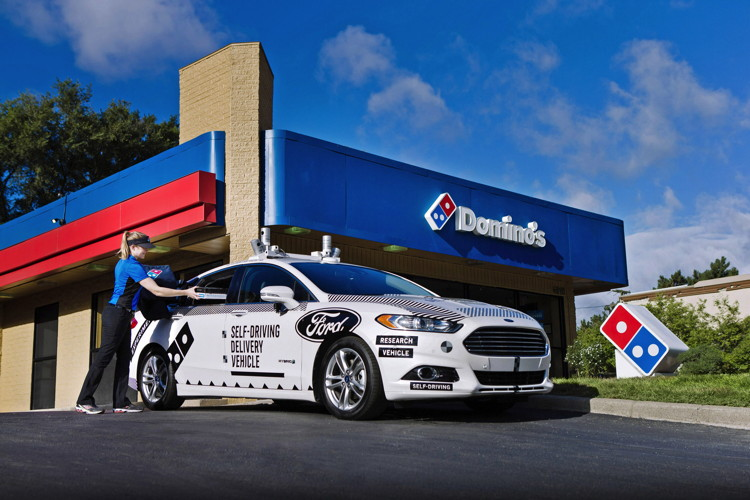 Domino's and Ford Begin Consumer Research of Pizza Delivery Using Self-Driving Vehicles