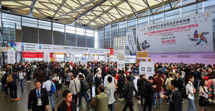 Exhibtion hall at Shanghai Hospitality Design & Supplies Expo