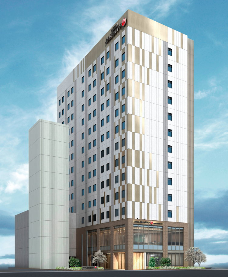 Rendering of the Hotel JAL City Sapporo Nakajima Park