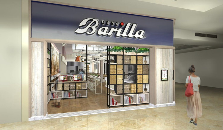 Rendering of a Barilla Restaurant