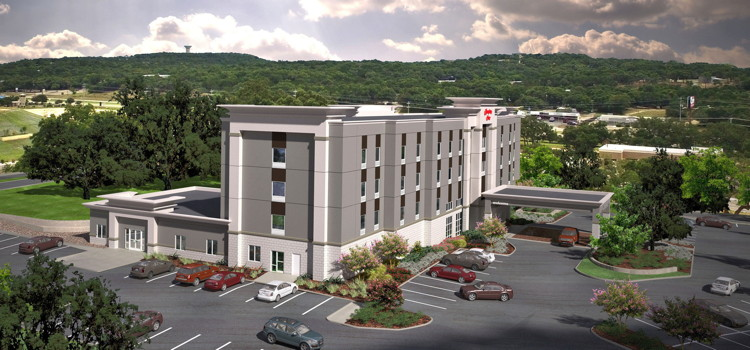 Rendering of the Hampton Inn by Hilton in Bulverde, Texas
