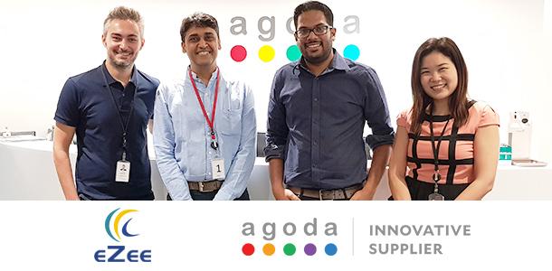 Agoda and eZee logos