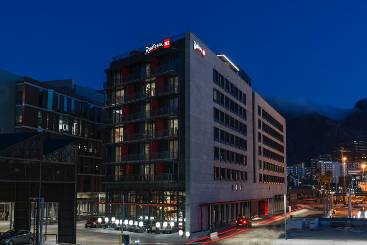 Radisson RED Cape Town Hotel - Exterior at night