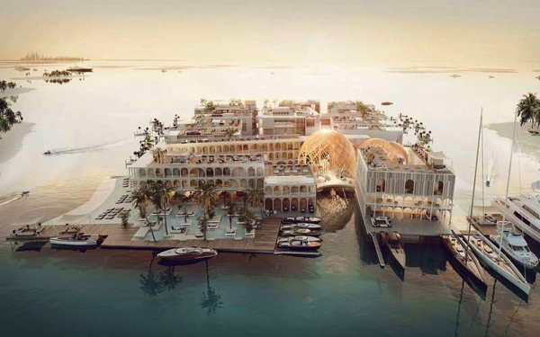 Floating Underwater Resort in Dubai