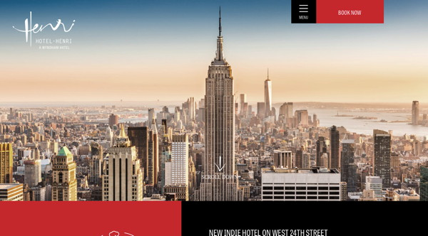 Screenshot - Hotel Henri in NYC website