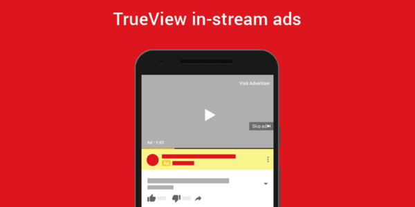 Mock up of In-Stream Ads