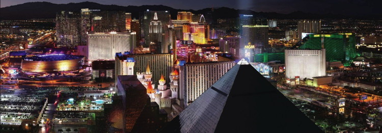 Las Vegas - Aerial view at night - Source MGM Resorts