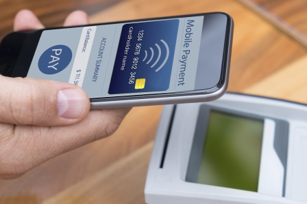 A mobile phone with a mobile payment
