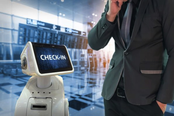 A check-in robot