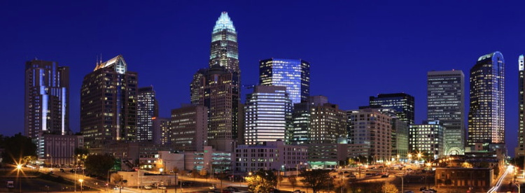 Charlotte, NC Skyline at Night - Source Marriott