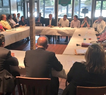 Rep. Bradley Byrne, R-Ala. (back row, center), met with National Restaurant Association members in his district to talk about the joint-employer standard and what it could mean for their businesses.