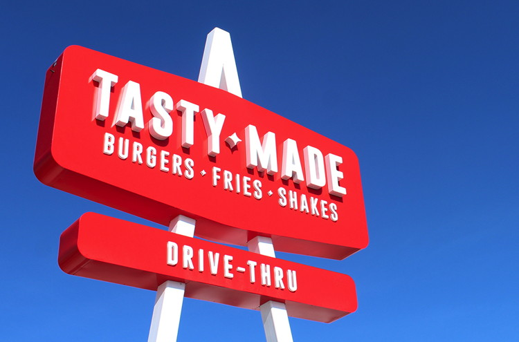 Tasty Made Burger Sign
