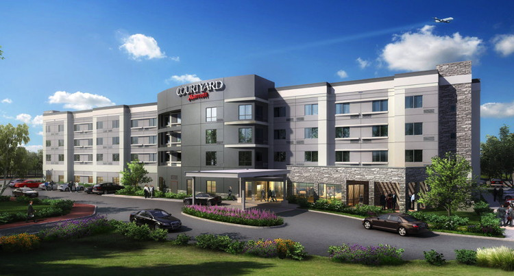 Rendering of the Courtyard by Marriott Houston Intercontinental Airport Hotel