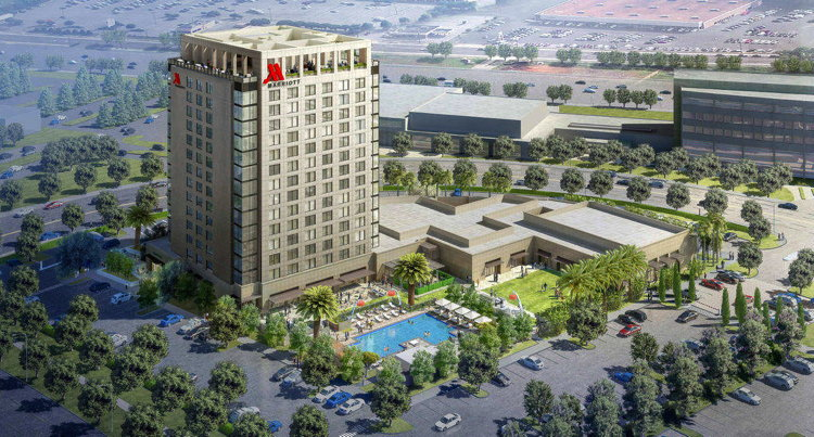 Rendering of the Marriott Irvine Spectrum Hotel