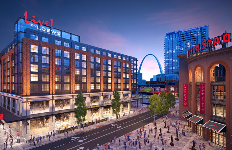 Rendering of the Live! by Loews - St. Louis Hotel