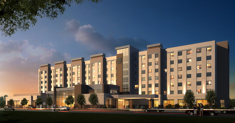 Rendering of Embassy Suites by Hilton College Station Hotel