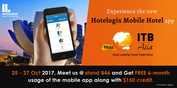 Promotional image for Hotelogix Mobile Hotel App