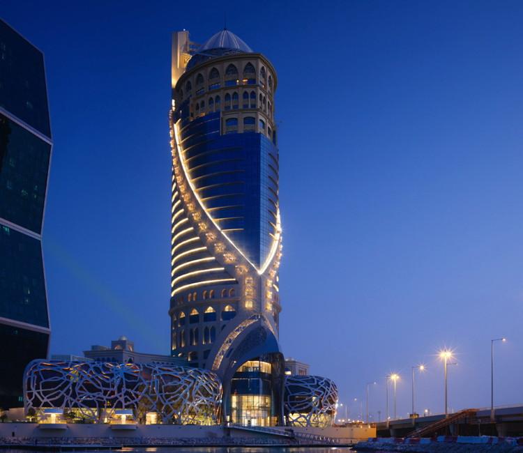 Mondrian Doha - Exterior at night