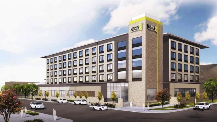 Rendering of the Home2 Suites by Hilton Dallas Downtown at Baylor Scott & White Opens