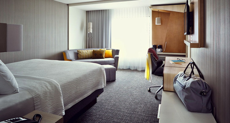 Guestroom at the Courtyard by Marriott Boston Dedham/Westwood