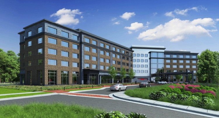 Rendering of the The Stateview Hotel On The Campus Of North Carolina State University