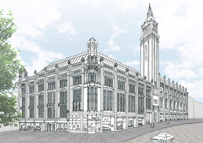 Rendering of the Unscripted Birmingham Central Hall