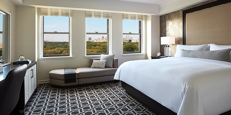 Guestroom at the JW Marriott Essex House New York