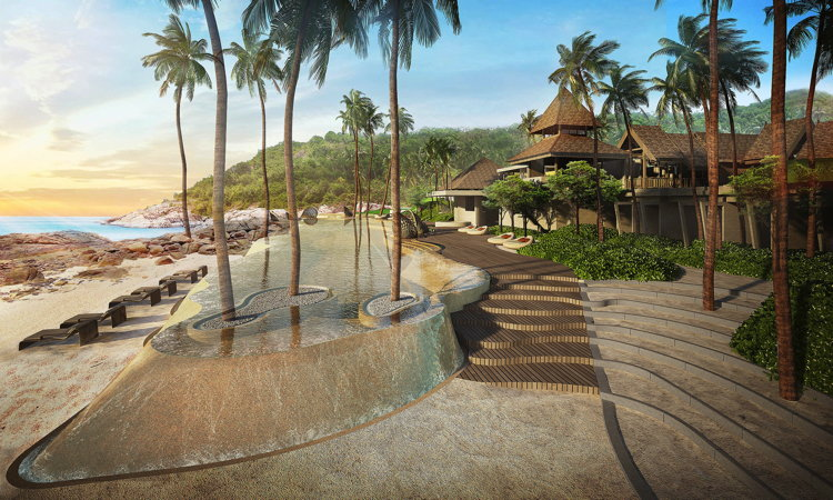 Rendering of the The Ritz-Carlton Koh Samui - Beach front villas