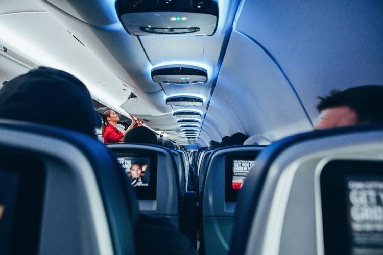 An aisle in an airplane Unsplash Omar Prestwich