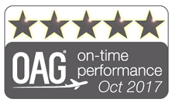 OAG On-time Performance Star Ratings logo