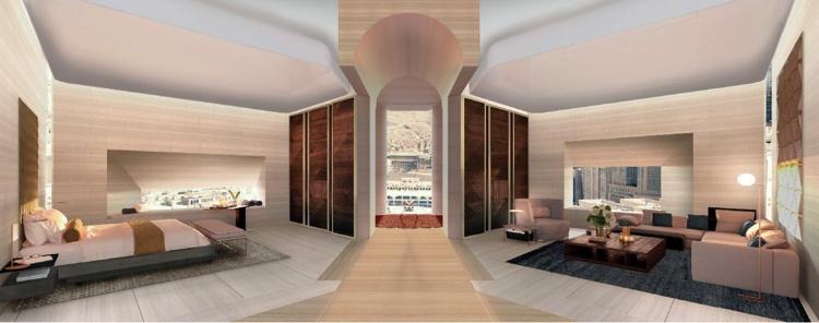 Rendering of suite at the Four Seasons Hotel Makkah
