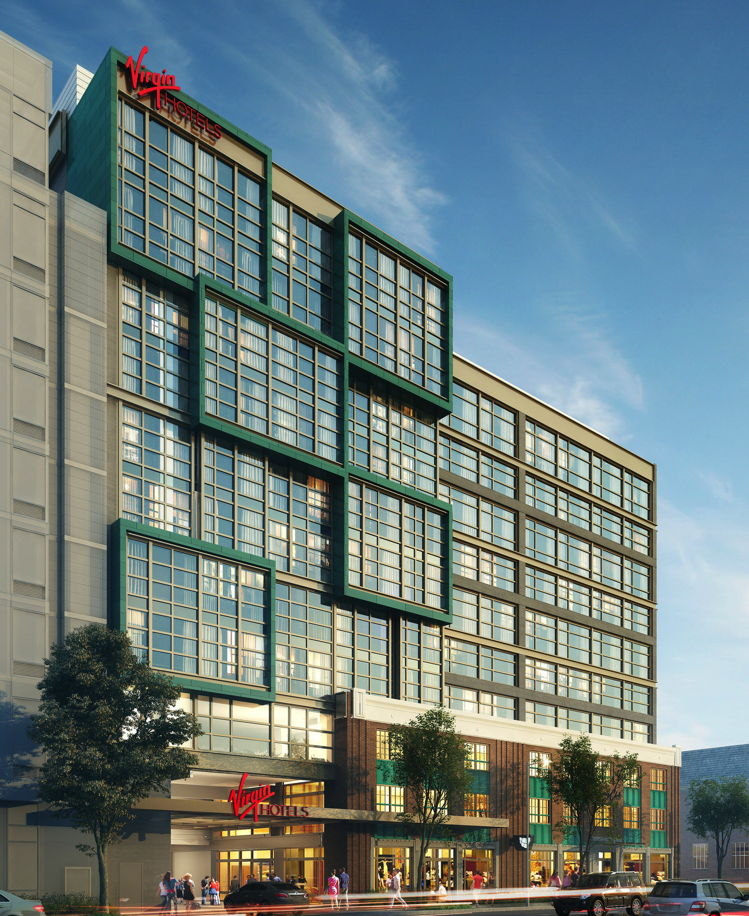 Rendering of the Virgin Hotels DC Union Market