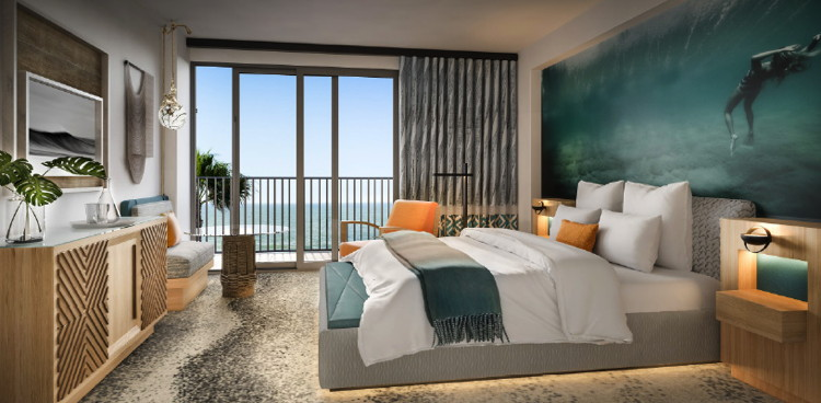 Waikiki Beachcomber by Outrigger room rendering: credit SFA Design
