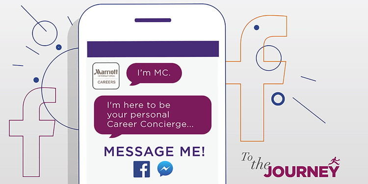 Illustration of Marriott Chatbot for Facebook Messenger concept