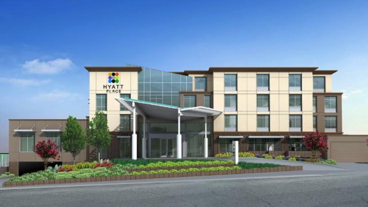 Rendering of the Hyatt Place Santa Cruz Hotel