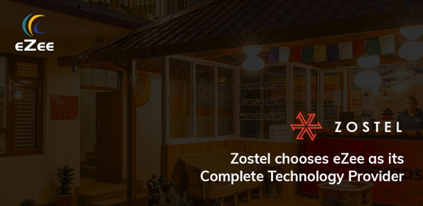 eZee Hospitality Solutions and Zostel logos