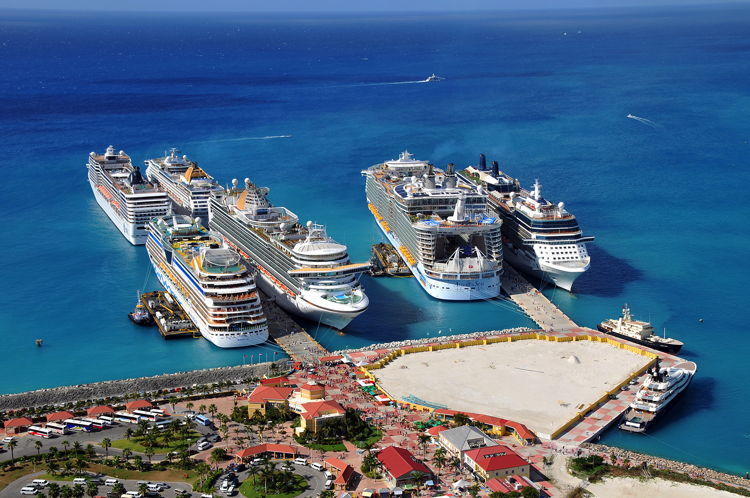 Carnival Corporation Cruise Ships in Port