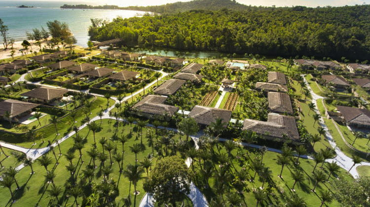 Fusion Resort Phu Quoc in Vietnam - Aerial view