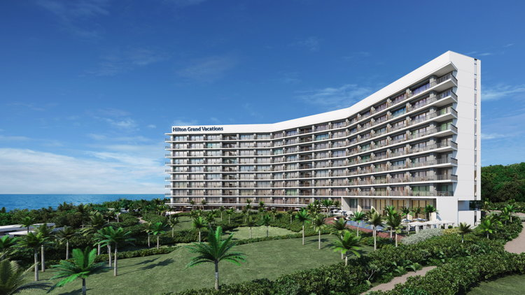 Rendering of the Hilton Hotels & Resorts on Sesokojima Island, Okinawa