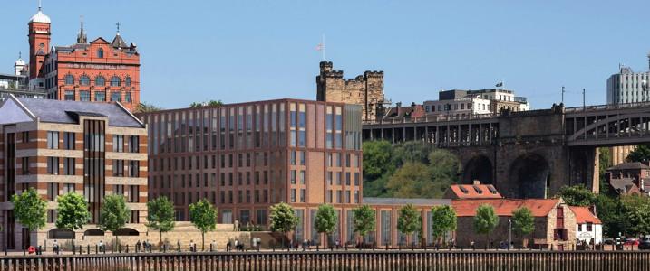 Rendering of the INNSIDE Newcastle Hotel